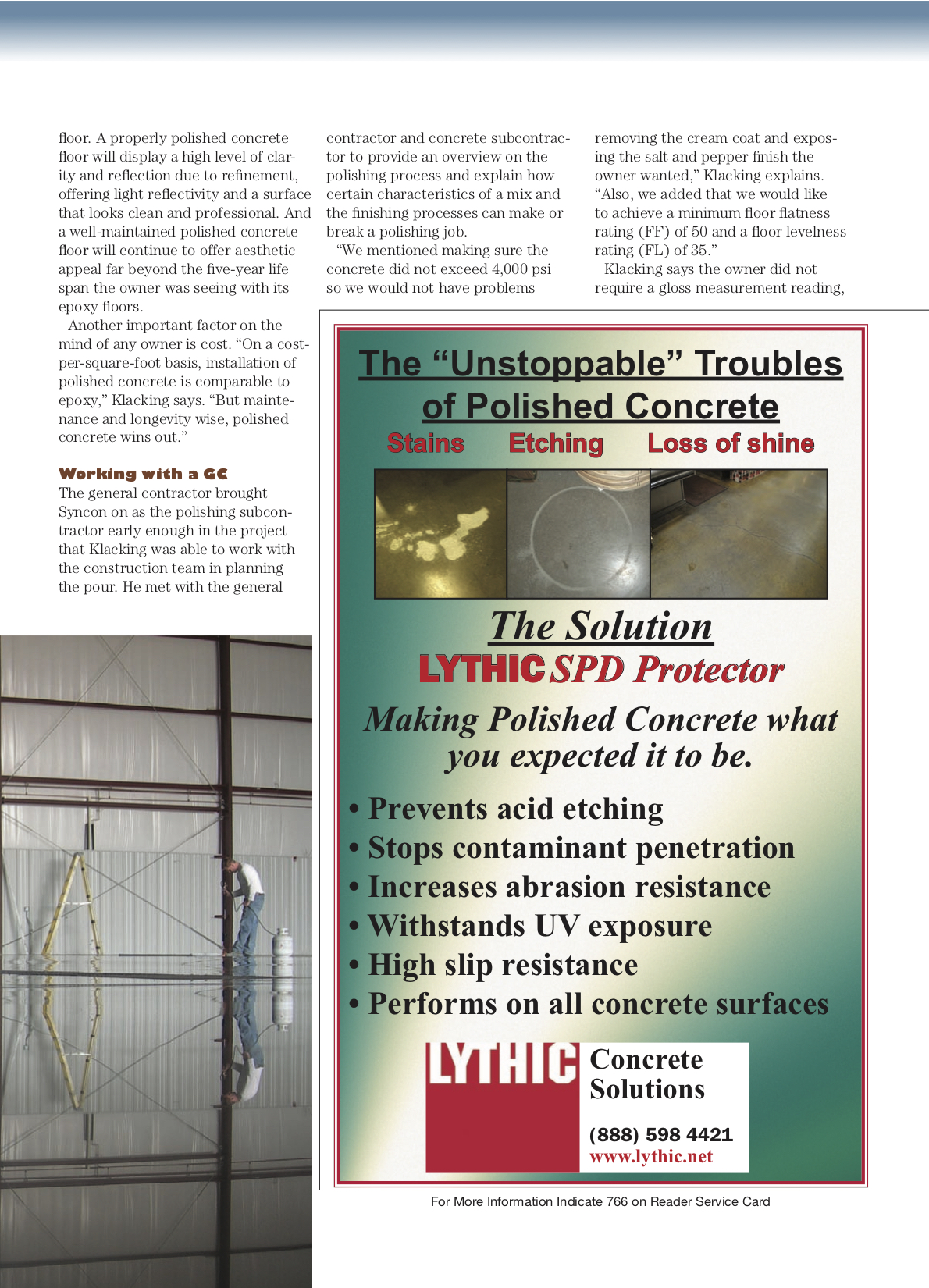Syncon Featured in Polishing Contractor Magazine Premier Addition3